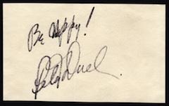 Pete Duel Autograph